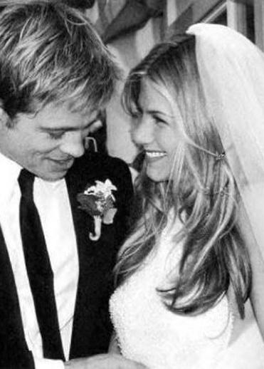 jennifer aniston and brad pitt wedding